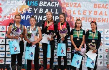 Українки Хміль та Лазаренко перемогли на чемпіонаті EEVZA пляжний волейбол, эвза 2019, ю18, ангеліна хміль. тетяна лазаренко