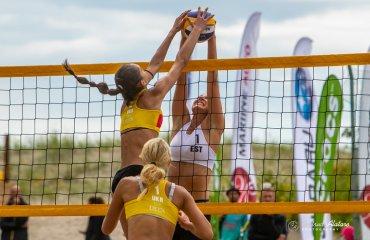 Кутнякова та Шумейко стали четвертими на чемпіонаті EEVZA пляжний волейбол, сєвза, естонія, шумейко кутнякова четверте місце