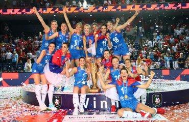 Жіноча збірна Сербії – чемпіон Європи жіночий волейбол, чемпіонат європи-2019, жіноча збірна сербії, тіяна бошкович мвп