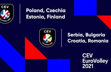 Представлені логотипи Євро-2021 чоловічий волейбол жіночий волейбол, чемпіонат європи 2021, збірна україни, нові логотипи