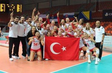 Збірна Туреччини U-19 стала чемпіоном Європи жіночий волейбол, чемпіонат європи u-19, збірна туреччина, відео фінального матчу, білорусь, сербія