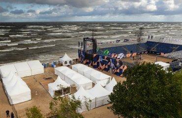 Ураган призупинив пляжний чемпіонат Європи в Латвії реклама, пляжний волейбол, чемпіонат європи 2020