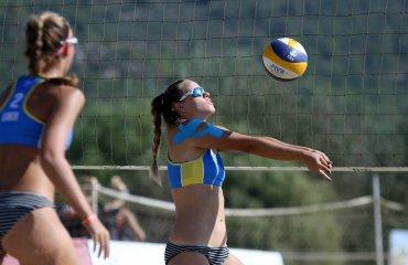 Рилова та Сердюк вийшли у півфінал чемпіонату Європи пляжний волейбол, чемпіонат європи-2020, ю22, софія рилова, єва сердюк, півфінал, владислав павлюк, павло плотнік