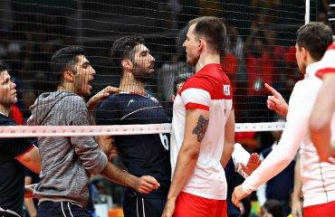 Волейбол называют интеллигентным видом спорта, но и в нём бывают жёсткие стычки мужской волейбол, драки, видео, стычки, разборки у сетки, матчи
