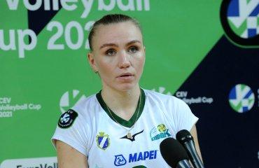 """Юлия БОЙКО: """"В Стамбуле будем бороться. Сдаваться никогда нельзя"""" женский волейбол, кубок екв сезон 2020-2021, химик южный галатасарай турция, юлий бойко интервью, украинская волейболсистка"""