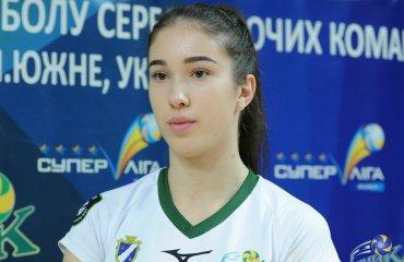 """Евгения ХОБЕР: """"Хотела бы набирать по 20 очков и в еврокубках, и в играх с """"Прометеем"""" женский волейбол, евгения хобер, химик южный, интервью, видео, суперлига украины, еврокубки, прометей"""