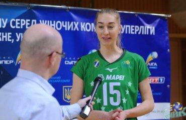 """Юлия МИКИТЮК: """"С """"Волынью"""" сыграла неплохо, но всегда хочется лучше, особенно на блоке"""" женский волейбол, кубок украины 2020-2021, химик южный, юлия микитюк, интервью"""