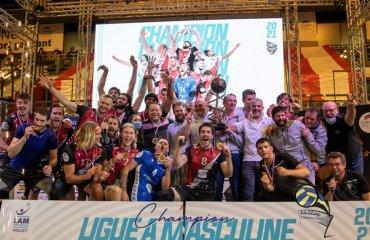 Український нападник Клямар виграв чемпіонат Франції чоловічий волейбол, олексій клямар, український волейболіст, чемпіон франції, канни, чемпіонат франції, сезон 2020-2021, капітан