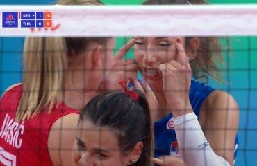 Сербська волейболістка дискваліфікована на два матчі жіночий волейбол, ліга націй-2021, скандал, расизм, збірна сербії