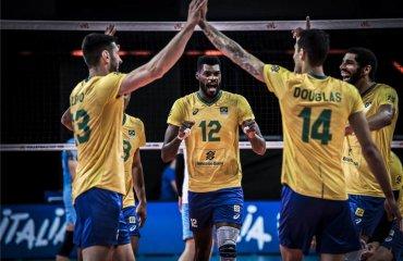 Ліга націй. Бразилія обіграла Польщу, Сербія перемогла США та інші результати дня чоловічий волейбол, ліга націй-2021, груповий етап, 9-ий тур, результати матчів