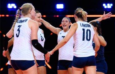 """Визначилися учасники """"Фіналу чотирьох"""" жіночої Ліги націй жіночий волейбол, ліга націй-2021, груповий етап, збірна сша, фінал чотирьох, турнірна таблиця"""