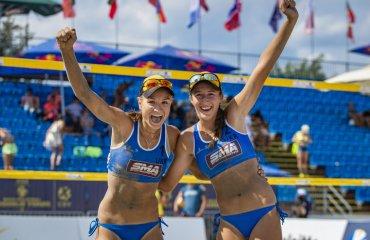 """Хміль та Лазаренко завоювали """"бронзу"""" Світового туру пляжний волейбол, світовий тур 1*, ангеліна хміль, тетяна лазаренко, бронзові нагороди"""