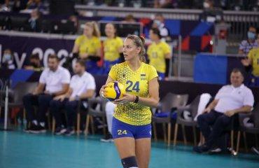 Голосуй за Олесю Рихлюк! жіночий волейбол, олеся рихлюк, українська волейболістка, кузейбору, діагональна, голосування, чемпіонат європи-2021, кращий гравець
