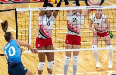 """СК """"Прометей"""" переміг в першому матчі Ліги чемпіонів жіночий волейбол, ліга чемпіонів 2021-2022, другий раунд, ск прометей, камник словенія, результати матчу"""