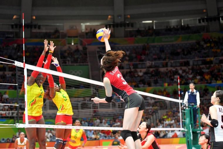 Японские волейболистки победили камерунок на Олимпийских играх в Рио-де-Жанейро