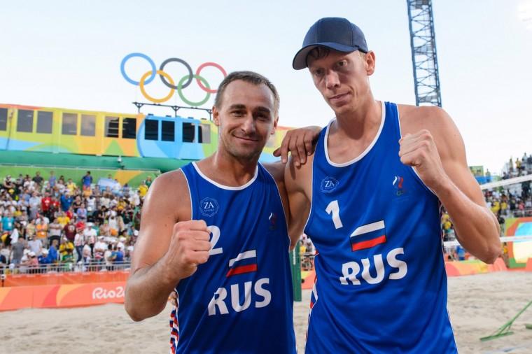 Дмитрий Барсук и Никита Лямин (Россия) не смогли выйти в полуфинал ОИ по пляжному волейболу