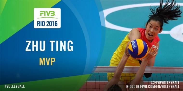 Китаянка Жу Тинг – MVP олимпийского турнира