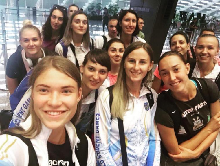 Жіноча збірна України Жіноча збірна України прибула до Тайбею