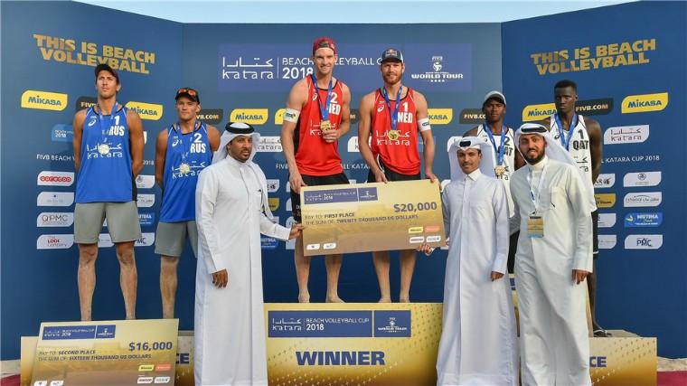 Призёры Мирового тура 4* Голландцы Броуэр и Меувсен стали победителями этапа Мирового тура в Катаре