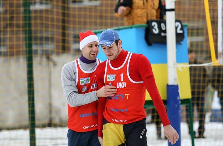 Віталій Дідух та Андрій Гольонко Дідух\Гольонко завершили боротьбу на чемпіонаті Європи з волейболу на снігу