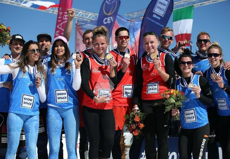 Призёры первого чемпионата Европы-2018 Определись победители I чемпионата Европы по волейболу на снегу