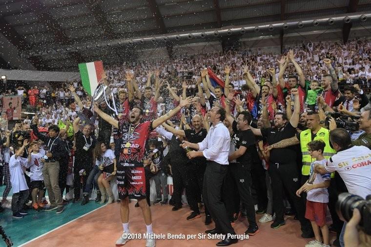 """Перуджа """"Перуджа"""" впервые в истории стала чемпионом Италии"""