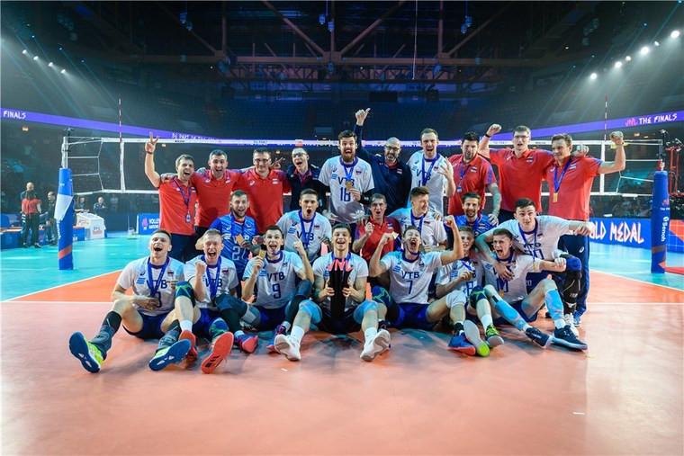 Збірна Росії Волейболісти збірної Росії другий рік поспіль виграли Лігу націй