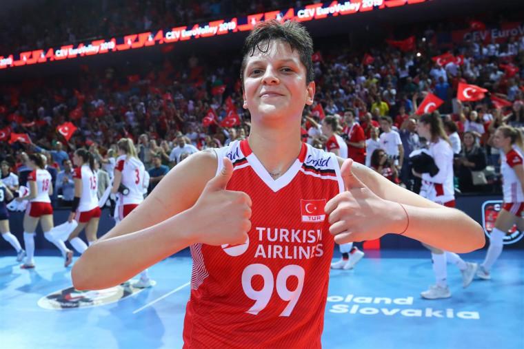 Каракурт Ебрар (игрок сборной Турции) Первый опыт в роли комментатора и полуфинал женского Чемпионата Европы