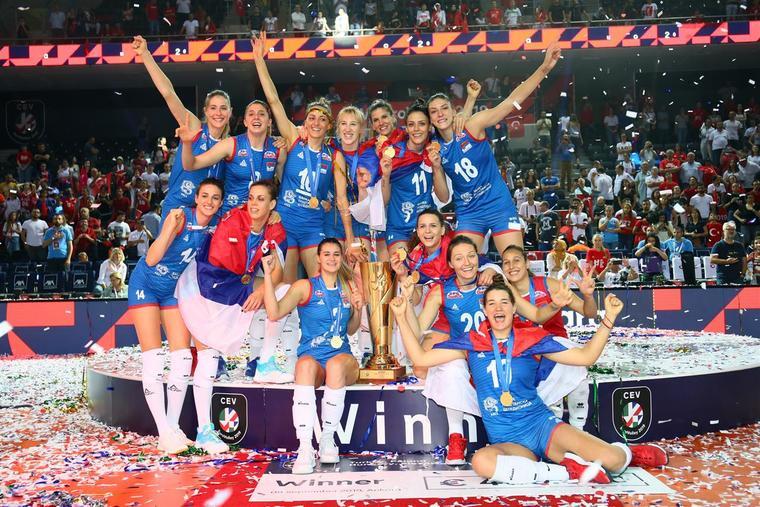 Жіноча збірна Сербії Жіноча збірна Сербії – чемпіон Європи