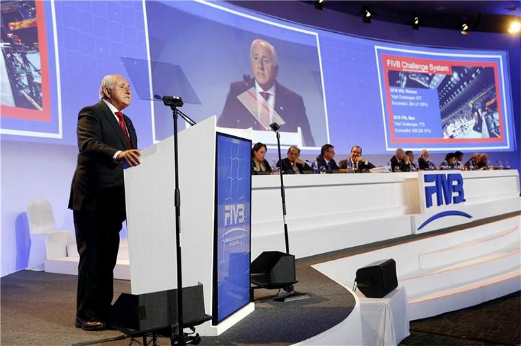 Попередня засідання Всесвітнього конгресу FIVB відбулося у Канкуні, Мексика, у листопаді 2018 року Всесвітній конгрес міжнародної федерації волейболу перенесений на 2021-й рік