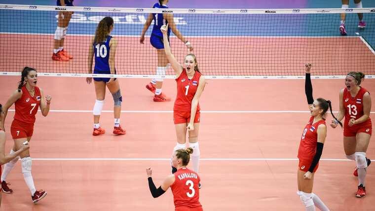 Збірна Росії Волейболістки збірної Росії виграли чемпіонат світу U-18