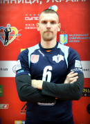 Кушнір  Сергій гравець команди ВК Серце Поділля Вінниця, Україна