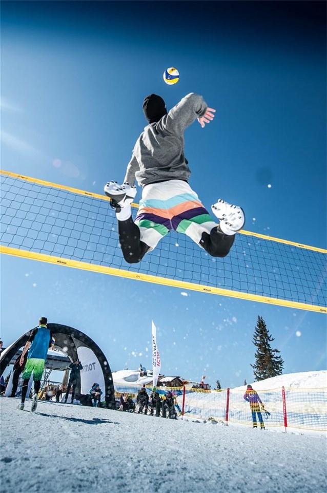 Сделать, волейбол в картинках на снегу